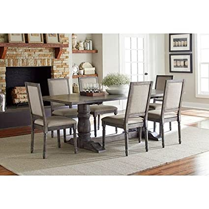Amazon.com - Progressive Muses Trestle Dining Table in Dove Gray ...