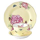 Royal Albert Joy 3-Piece Tea Set, 3PC, Yellow