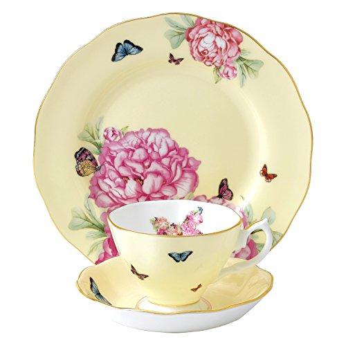 Royal Set Tea Doulton (Royal Albert Joy 3-Piece Teacup, Saucer and Plate Set Designed by Miranda Kerr)
