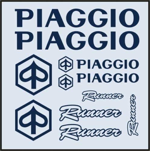 SUPERSTICKI Piaggio Runner Set ca 30cm Motorrad Aufkleber Bike Auto Racing Tuning aus Hochleistungsfolie Aufkleber Autoaufkleber Tuningaufkleber Hochleistungsfolie f/ür alle glatten Fl/ächen