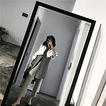 Xxin The Homemade Hand Cut Paste Colored Shoulders Gray White Shirt Skirtl Pale