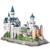 CubicFun L174h Neuschwanstein Castle (with LEDs) 128 Pieces Architectures 3D Puzzle