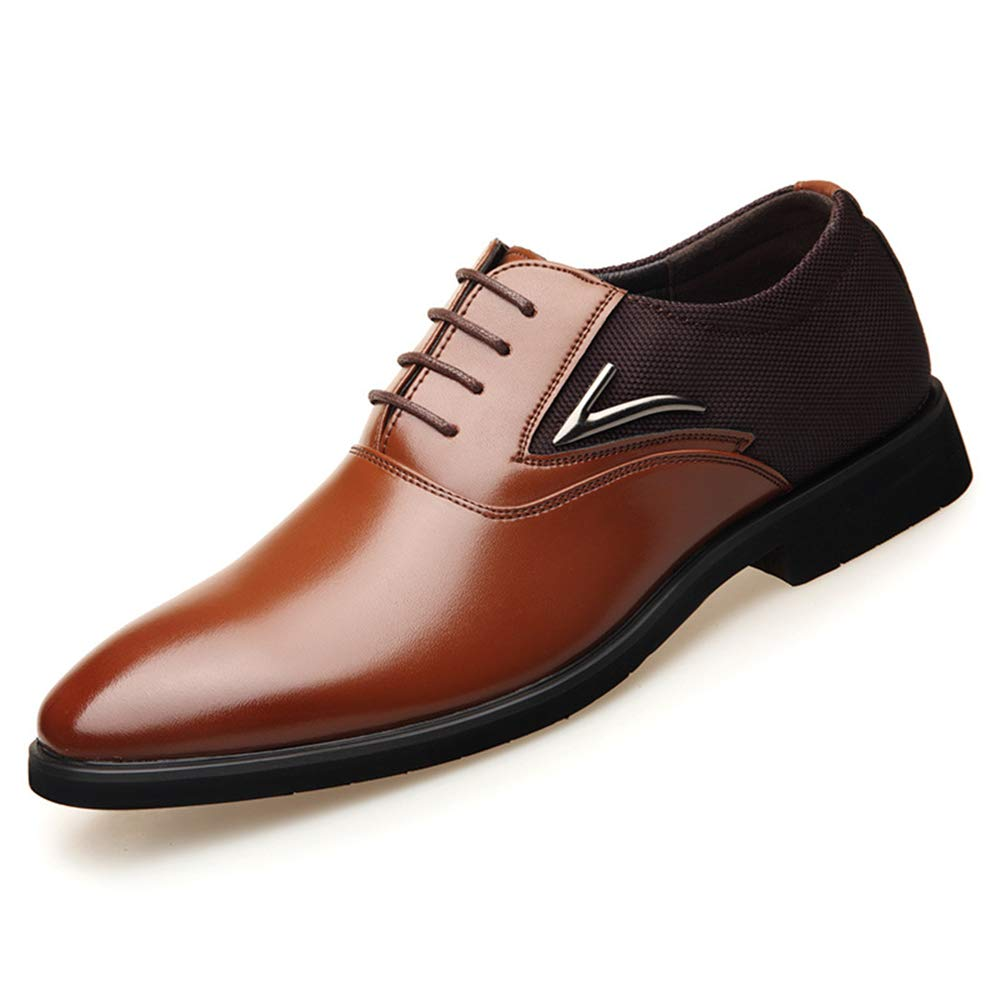Mens Modern Dress Shoes Formal Wingtip Lace up Oxford Shoes