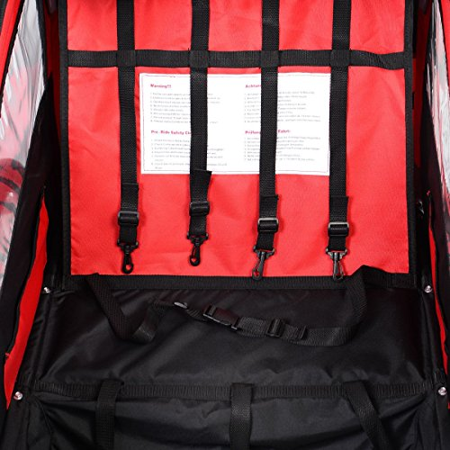 2 in 1 Double Child Bike Trailer Bicycle Carrier Stroller