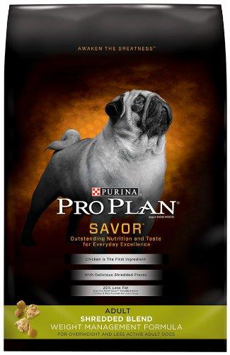 Purina Pro Plan Dry Adult Dog Food, Shredded Blend Weight Management Formula, 34-Pound Bag, My Pet Supplies