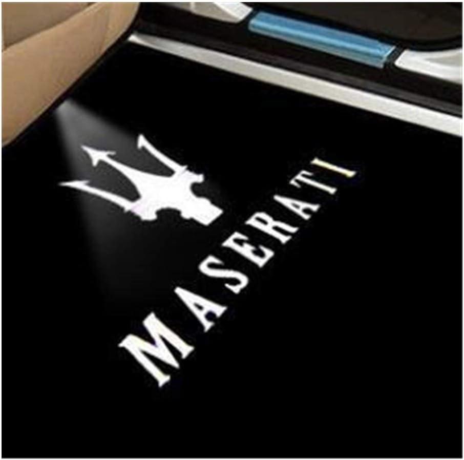 Luce di benvenuto della porta 2Pcs del portello di automobile LED Benvenuto luce dellombra del fantasma della lampada compatibile con Maserati Quattroporte Ghibli Levante Luce di benvenuto