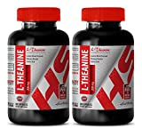 L-theanine extra strength - NATURAL L-THEANINE 200MG - support brain function (2 Bottles)