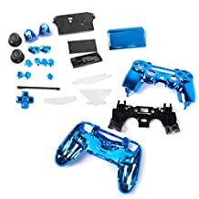 Generic Full Housing Shell Case Button Kit Replacement Parts for PlayStation 4 PS4 Wireless Controller - Blue