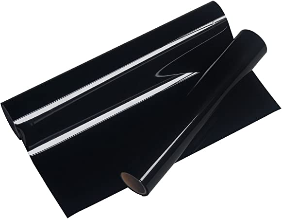 VINYL FROG 10 x5PU Black Iron On Heat Transfer Vinyl Rolls HTV