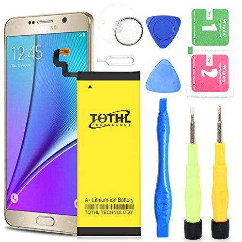 Galaxy Note 5 Battery,TQTHL UPGRADED 3200mAh Replacement Li-Polymer Battery for Samsung Galaxy Note 5 Part# EB-BN920ABE SM-N920 with Free Tool kit. (Compatible with ALL Galaxy Note 5 (Kit Notes)
