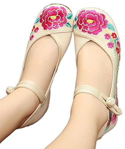 AvaCostume Womens Flower Embroidery Dancing