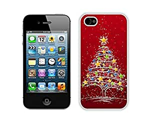 Niche market Phone Case Christmas tree White iPhone 4 4S Case 23