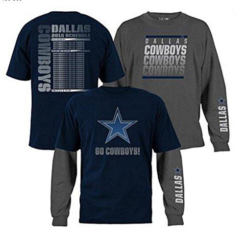 Dallas Cowboys NFL 3-in-1 3 Looks in 1 Tee Shirt Combo SZ XL (Dallas Cowboys Shorts)