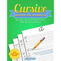 Cursive Handwriting Workbook: Awesome Cursive Writing Practice Book for Kids and Teens - Capital & Lowercase Letters, Words and Sentences with Fun Jokes & Riddles (Cursive Writing Workbook)