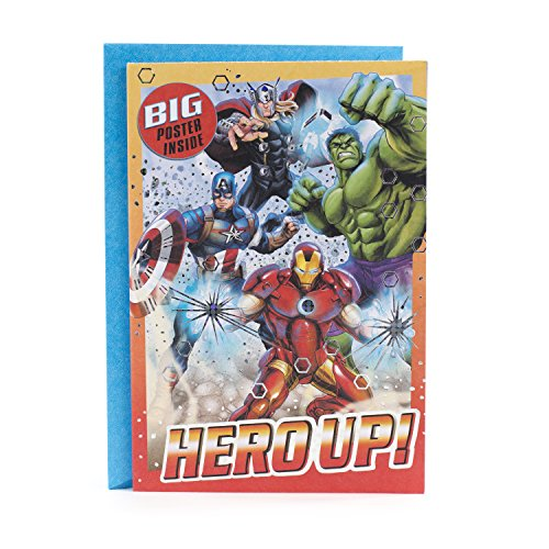 Hallmark Avengers Birthday Card with Poster (Hero Up!)]()