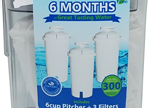 Reduce 6 Cup Water Filter Pitcher + 3 Filters - Purple