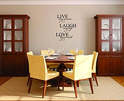 Decal Wall Sticker - ON SALE NOW : Live Every Moment Laugh Everyday Love Beyond Words Home Decor Picture Art Size :10 Inches x 20 Inches