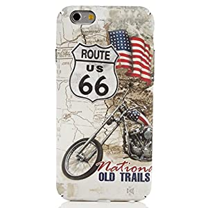Iphone 6 Luminous Case Super Slim Protective Bumper Cover With Hard Light Up Back Cover for Apple iPhone 6s With Motorcycle Pattern