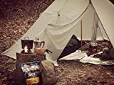 Black Orca Smokey HUT Chimney Tent - Ultralight Hot Tent with Stovepipe Hole, Double Backpacking Teepee Tent