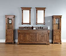 """James Martin Brookfield 72"""" Double Bathroom Vanity in Oak"""
