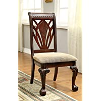 Furniture of America Bonaventure Traditional Style Dining Chair, Set of 2