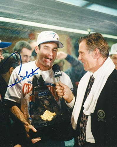 (Signed Molitor Picture - 8x10 WORLD SERIES MVP TROPHY COA - Autographed MLB Photos)