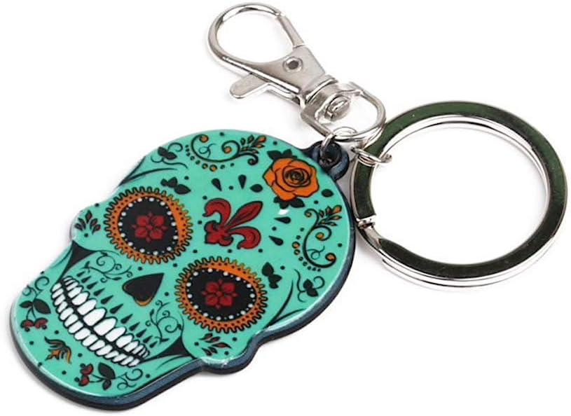 Porte cl/é Skull Mexicain Turquoise
