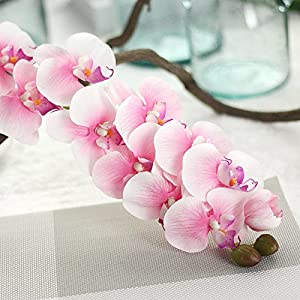 Miracliy 1 Piece Artificial Butterfly Orchid Flower for Home Office Party Decor 2