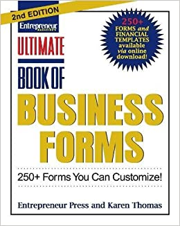 ultimate book of business forms 250 forms you can customize ultimate series entrepreneur press 9781599183794 amazoncom books