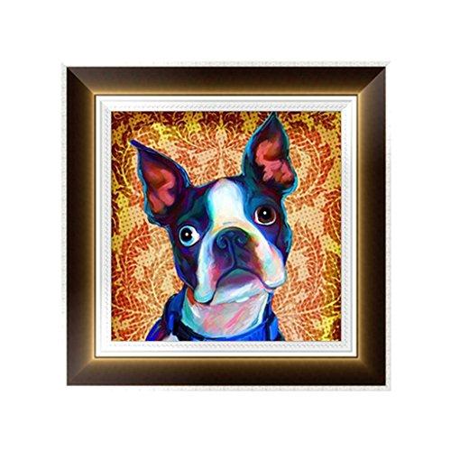OHTOP Dog 5D Diamond Embroidery Painting Cross Stitch DIY Craft Home Office Decor