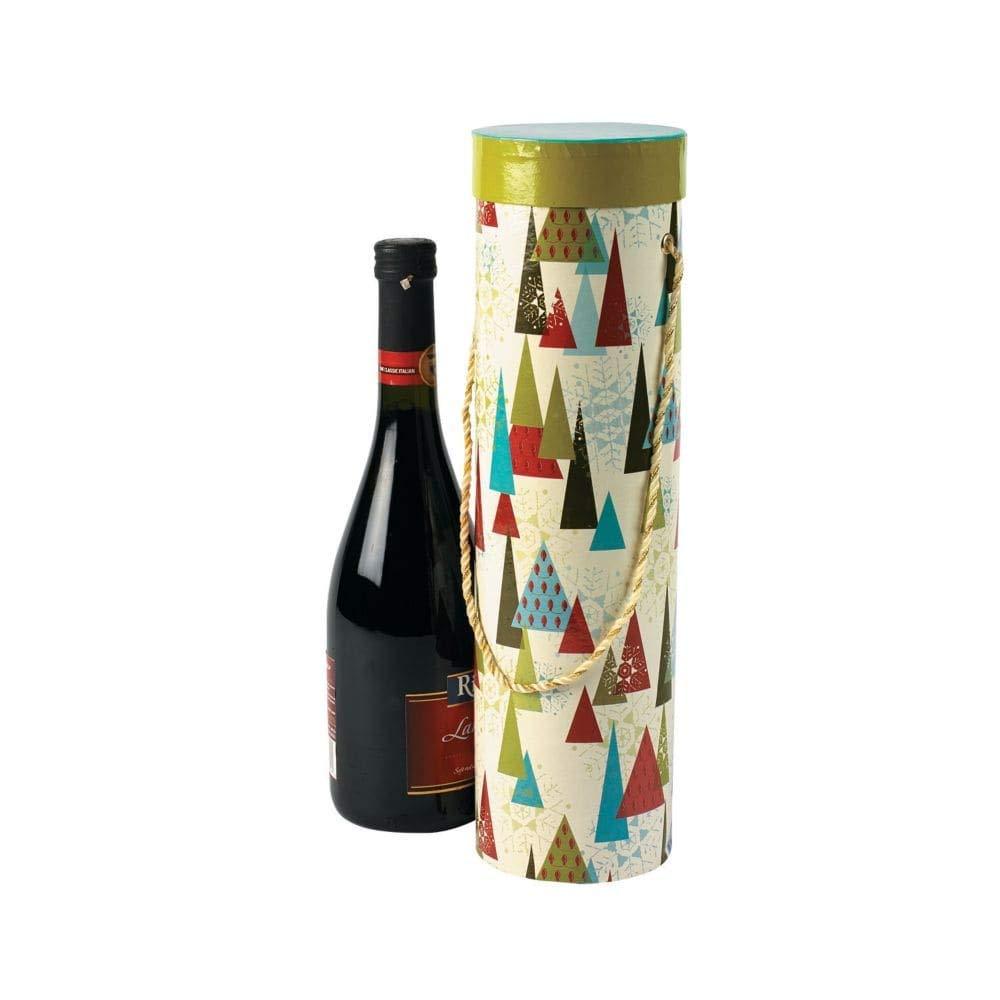 Impresión de Navidad cajas de vino (con asas (3 piezas por juego) 14