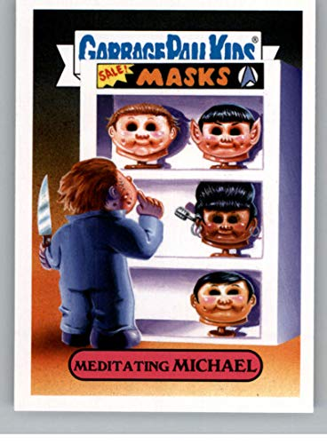 2019 Topps Garbage Pail Kids Revenge of Oh, The Horror-ible Slasher Film Stickers #7A MEDITATING MICHAEL Series Two Collectible Sticker Card