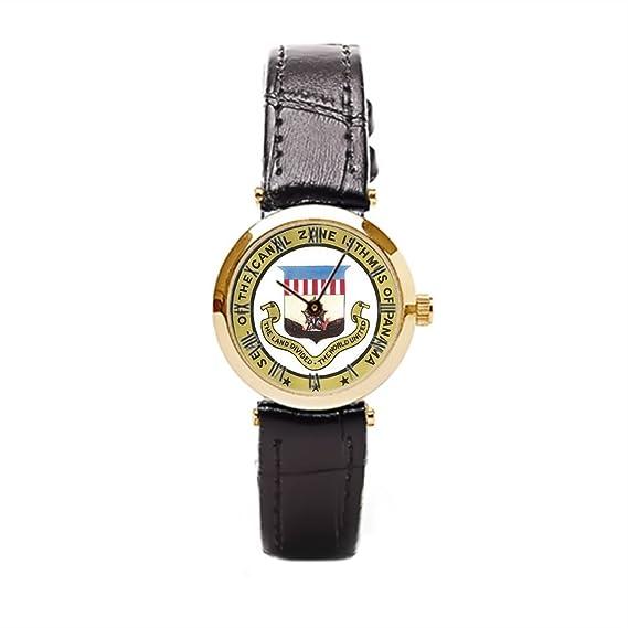 aromar sello de reloj Vintage reloj de pulsera de piel de la zona del canal de