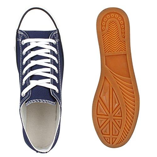 Blau Übergrößen Unisex Low Sneaker Damen Marine Flandell Kinder Stiefelparadies Herren wzSx4YqU
