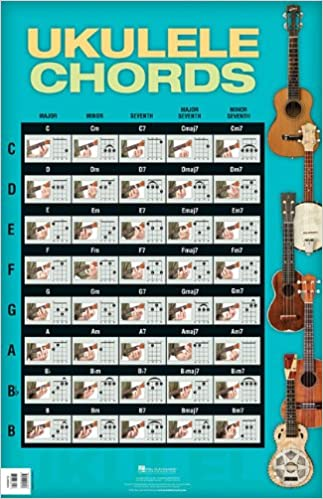Amazon Ukulele Chords Poster 22 X 34 0884088662127 Hal