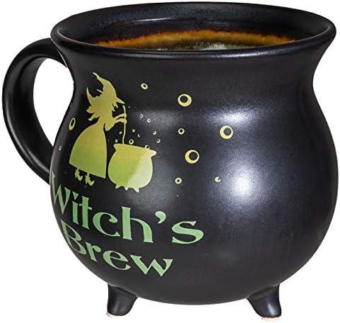 Pacific Giftware Witchs Brew Cauldron Ceramic Porcelain Coffee Mug Soup Bowl 32 fl oz