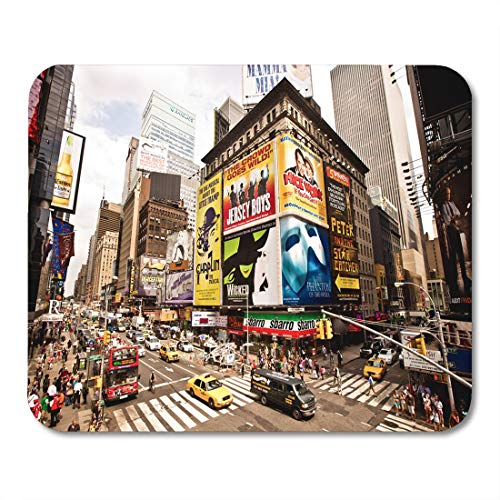 Emvency Mouse Pads New York City August 22 Times Featured Broadway Theaters Mouse Pad for notebooks, Desktop Computers mats 9.5