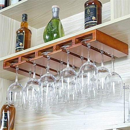 HJXSXHZ366 Estantería de Vino Portavasos de Vino de Madera de Pino for Montar en la Pared en un mostrador de decoración de Vidrio 9~15 Estante de Botellas de Vino for restaurantes el hogar Diario