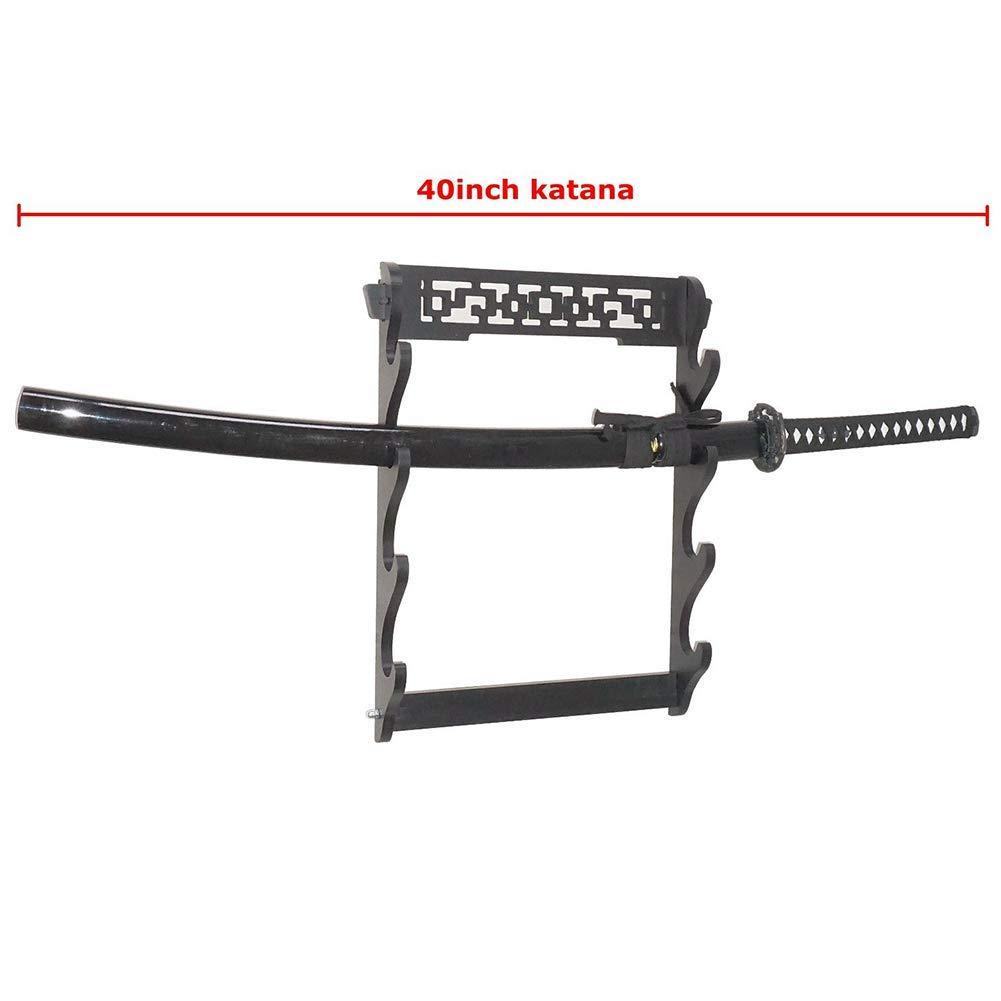 HUOXU 4 Schichten Katana Die Halterung Schmuckschwert Standard Samurai Schwerter Schwerthalters