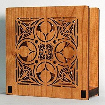 (Frank Lloyd Wright NATHAN MOORE Design Laser Cut Wood Napkin Holder)