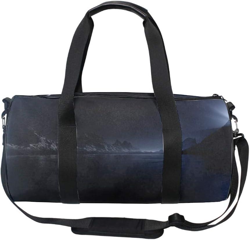 Landscapes Night Gym Bag Sports Duffel Bag Barrel Holdall Bag For Travel Gym Sports Bag