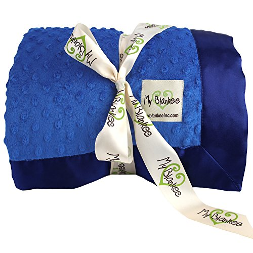 My Blankee Minky Dot Super Throw Blanket, Electric Blue, ...