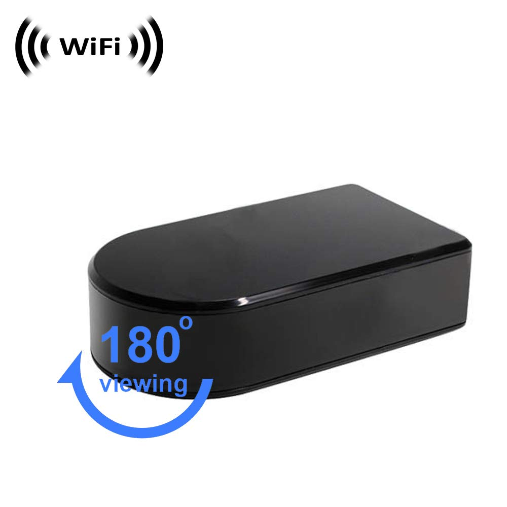 WiFi Spy Camera with Recording (Sorry, No P2P). Black Box Style with Rotating Lens by SCS Enterprises