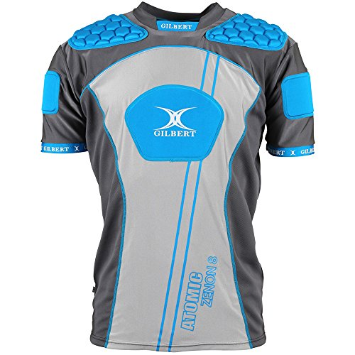 Gilbert Atomic Zenon Body Armour - Blue (X-Large) Atomic Rugby Body Armour