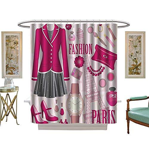 Muyindo Shower Curtains Waterproof Fashi Theme in Paris