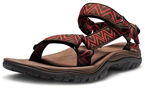 AT-M110-RBR_270 Men 9D(M) Atika Men's Sport Sandals Maya Trail Outdoor Water Shoes M110