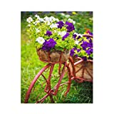 Decorative Bicycle In Garden Flower #1 Jigsaw Puzzle Print 252 Pieces