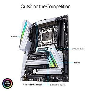 ASUS Prime X299-Deluxe II X299 Motherboard LGA2066 (Intel® Core™ X-Series) ATX DDR4 M.2 U.2 Thunderbolt 3 USB 3.1 with…