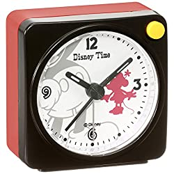 Disney Mickey Mouse Minnie Mouse quartz alarm clock (black paint) FD468K