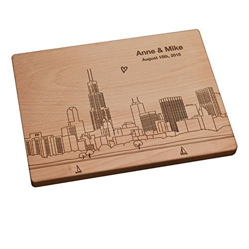 Personalized Cutting Board - Chicago Skyline